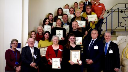 The people nominated for the annual St Edmund's Day Awards held at the Town Council offices in Bury