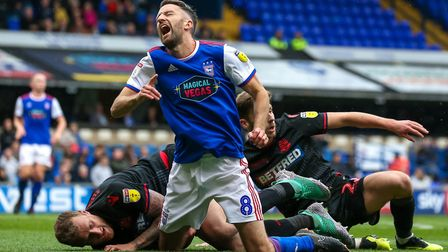 Cole Skuse's injury is a big blow for relegation-threatened Town. Picture: STEVE WALLER