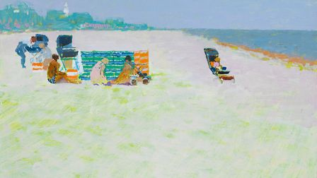 Southwold Beach Party by Lionel Bulmer - Art dealers Messums are having a pop-up gallery at Snape t