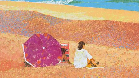 Lionel Bulmer �On The Beach' - Art dealers Messums are having a pop-up gallery at Snape this weekend