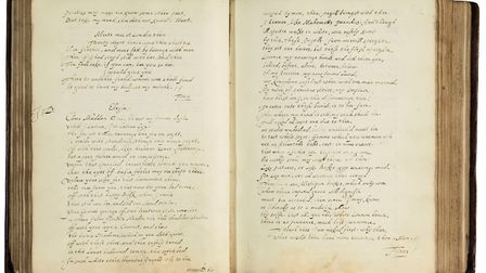 The John Donne collection of poems discovered at Melford Hall. Picture: SOTHERBYS