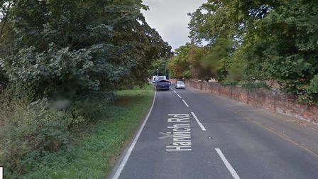 Harwich Road, in Lawford, where a pedestrian was killed following a collision with a car Picture: GO