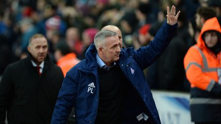 Ipswich Manager Paul Lambert is welcomed back by the Stoke crowd Picture Pagepix
