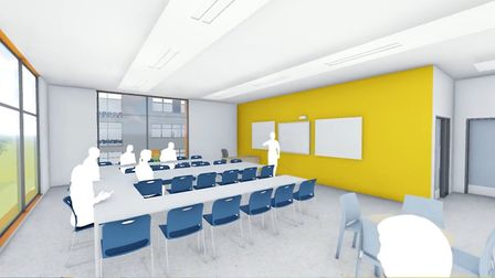 A computer generated image inside the new building Picture: ABBEYGATE SFC
