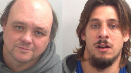 Christopher Barnes (left) and Damien Salter were jailed for conning victims Picture: ESSEX POLICE
