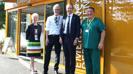 From left, West Suffolk NHS Foundation Trust (WSFT) chairwoman Sheila Childerhouse, WSFT chief execu