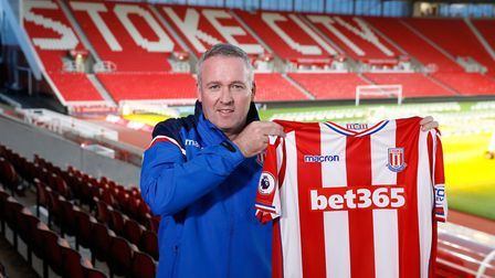 Lambert signed a two-and-a-half year contract at Stoke but was sacked after the Potters were relegat