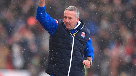 Lambert oversaw just two wins during his 15 games in charge of Stoke. Photo: PA