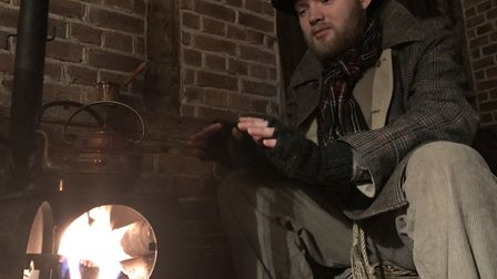 Actors interact with the public to bring the Victorian era to life at Kentwell Hall this Christmas.