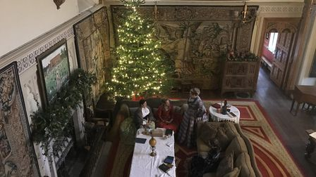 The beautiful surroundings of Kentwell Hall play host to the Dickensian Christmas event. Picture: NE
