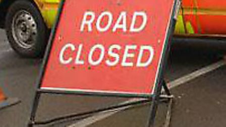 The A134 Magdalen Street was closed due to an obstruction Picture: ARCHANT