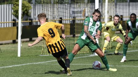 Robbie Sweeney netted for Stowmarket in their victory. Picture: DAVID WALKER