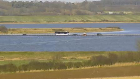 Sixteen people were rescued from vehicles on The Strood, West Mersa Picture: STROODCAM.CO.UK