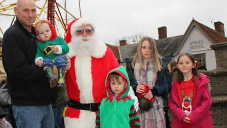 There was the chance to meet Santa at the fair Picture: GOODERHAM PR