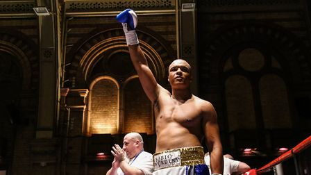 Fabio Wardley is unbeaten as a pro - 4-0 with three straight first round stoppages. Picture: SARA TH