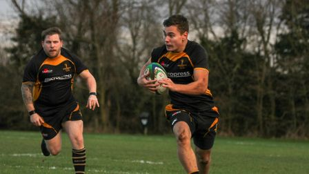 Jacob English on the run for Southwold in their pulsating win over Ipswich. Picture: LINDA CAYLEY