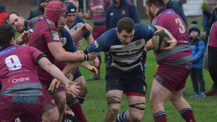 Chelmsford on the attack in their win. Picture: CHELMSFORD RUFC