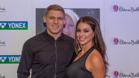 Former Ipswich Town star Martyn Waghorn and his wife Leoni at the Elena Baltacha Foundation Awards 2