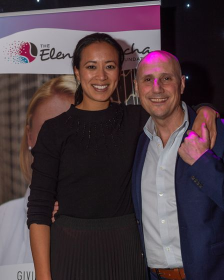 Nino Severino with tennis star Anne Keothavong. Picture: PAVEL KRICKA