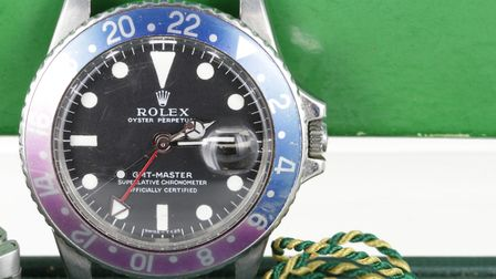 The Rolex wristwatch that sold at Suffolk auctioneers Lockdales for £13,500 Picture: LIZA MACHAN/LO