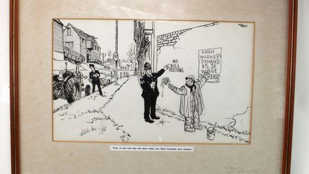 The Giles cartoon of a former Suffolk Police Chief Constable made £1,900 Picture: LIZA MACHAN/LOCK