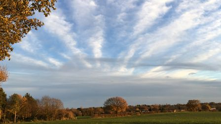 Skies in Suffolk Picture: MICHELE DOICK
