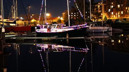Christmas reflections at the Waterfront Picture: JAN MIDDLEDITCH