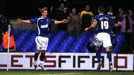 Jack Colback celebrates scoring Ipswich's second goal on this day in 2009
