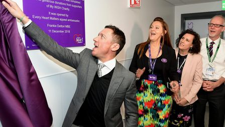 My WiSH Charity Every Heart Matters appeal ambassador Frankie Dettori officially opens the new cardi