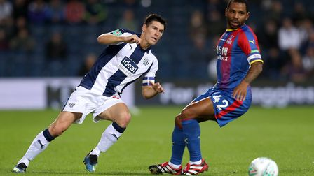 West Brom's Gareth Barry (left) and Crystal Palace's Jason Puncheon (right) could both be available
