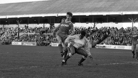 Kevin Wilson scored twice on this day in 1986