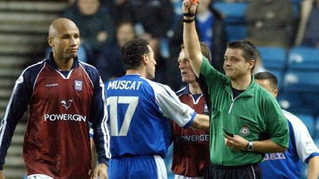 George Santos was sent off in Town's goaless draw with Millwall on this day in 2003