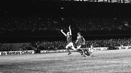 Alan Brazil scored in Town's 1-1 with Liverpool in 1980
