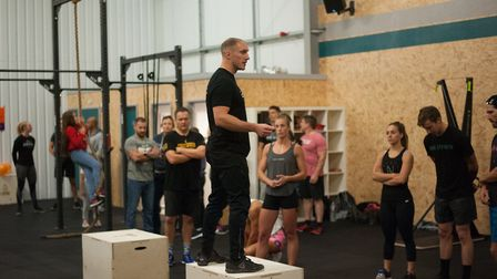 Coach Darren Hotten coaching a class at CrossFit Orwell PICTURE: Andrew Wardlaw