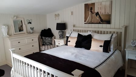 The bedroom of one of the mill cottages. Picture: RACHEL EDGE
