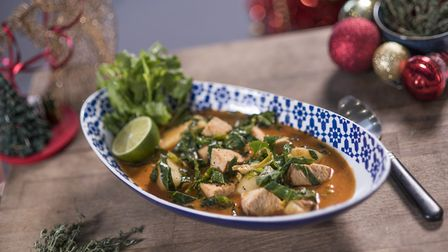 Thai Massaman curry with leftover turkey and potatoes. Picture: Adam Smyth