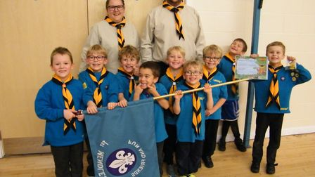 Leaders Tanya and Michael Richardson with the Mendlesham Beaver Colony Picture: MARTYN BRYANT
