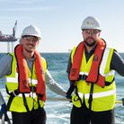 Employees Matt Wooltorton and Tommy Rudd, based at Lowestoft, have key roles in East Anglia ONE Pic