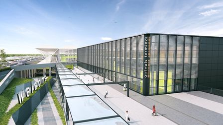 CGI image of Stansted's new arrivals terminal. Picture: London Stansted Airport