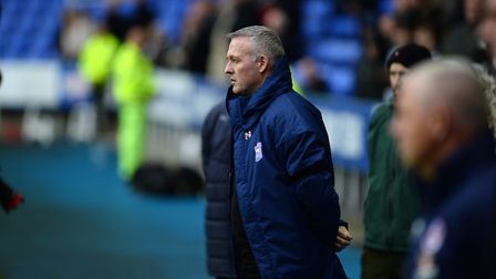 Ipswich manager Paul Lambert at Reading. Picture Pagepix