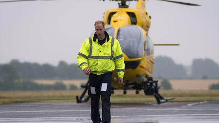 The Duke of Cambridge flew for the East Anglian Air Ambulance between 2015 and 2017. Picture:: Stefa