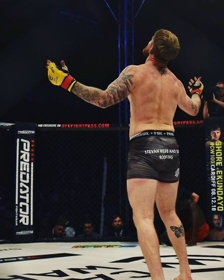 James Webb savours his career-best win at Cage Warriors 99 in Colchester. Picture: BRETT KING