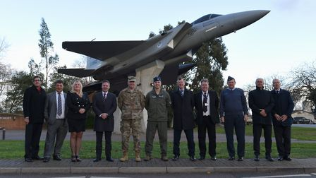 The deal was celebrated at a ceremony at the air base. Picture: DIO