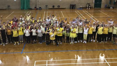 Children in Need fundaising at Clacton Leisure Centre. Picture: TENDRING DISTRICT COUNCIL