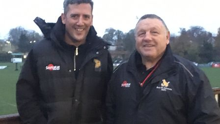 Bury St Edmunds' new head coach, Nick Wakley (left) with the Club's Performance Director, Terry Sand
