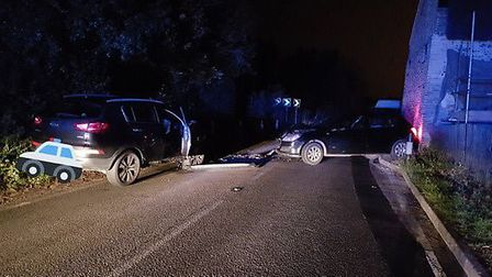 Crash in Eriswell in November. Picture: SUFFOLK POLICE