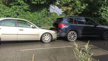 Crash in Eriswell in July. Picture: RUSS ELLISON