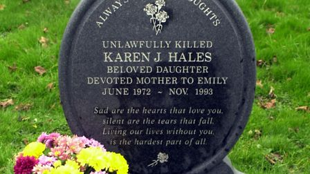 Karen Hales' headstone Picture: LUCY TAYLOR