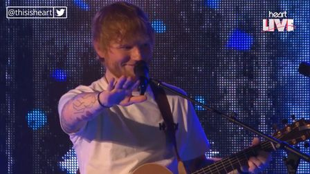 Ed Sheeran at the a secret live gig for Heart FM, where he broke off in a song to allow a fan to pro