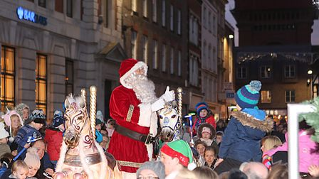 The 2017 Colchester Christmas lights switch on with Santa. PICTURE :SEANA HUGHES